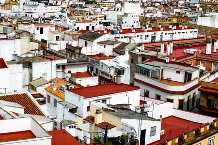 view over the roofs of the old quarter of Seville photo
