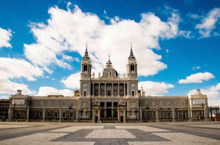 Royal Palace is landmark in Madrid, Spain.