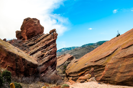 Historic Red Rocks Amphitheater near Denver, Colorado Stock Photo