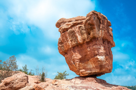 pinnacle: garden of the gods park, colorado springs, colorado Stock Photo