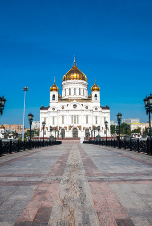 crist: Cathedral of Crist The Savior in Moscow, Russian Federation Stock Photo