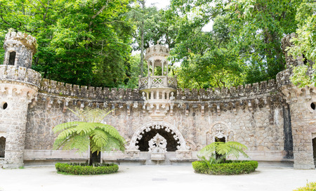 Quinta da Regaleira in Sintra, Portugal. The Knights Templar, and the Rosicrucians photo