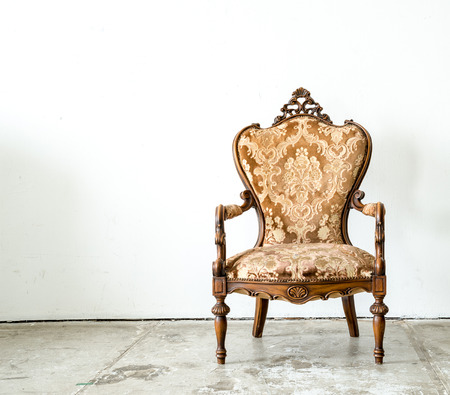 antique wood: classical style Armchair sofa couch in vintage room