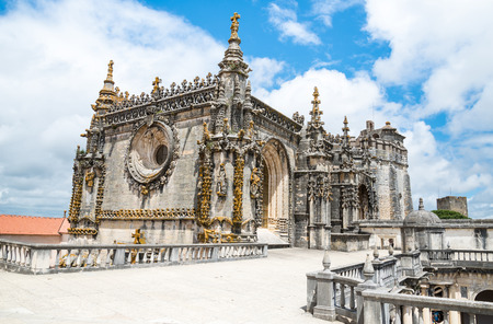 templar: Knights of the Templar (Convents of Christ) in Tomar. Portugal Stock Photo