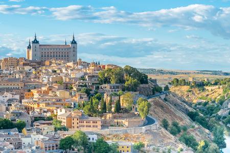 Toledo stadsbeeld. Toledo is de hoofdstad van de provincie van Toledo (70 km ten zuiden van Madrid), Spanje. Stockfoto