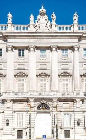 palacio: Royal Palace. Palacio de Oriente, Madrid landmark, Spain. Editorial