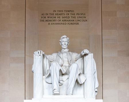 abe: Abraham Lincoln monument in Washington, DC