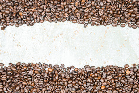 coffeetree: Coffee beans on vintage wood background