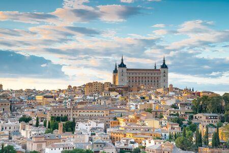 toledo town: Toledo, Spain town city view at the alcazar
