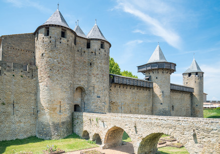 Fortress of Carcassonne in southern France - Languedoc, France