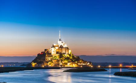 Le Mont-Saint-Michel in the twilight