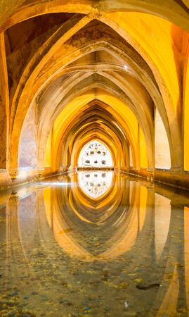 padilla: Baths of Lady Mary of Padilla, at the Real Alcazar in Seville, Spain