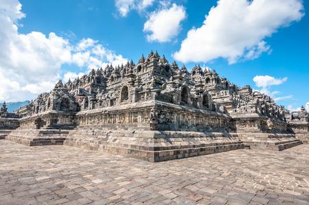 Erfgoed boeddhistische tempel Borobudur complex in Yogjakarta in Java, Indonesië