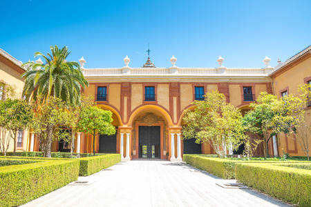real renaissance: Reales Alcazares in Seville - residence developed from a former Moorish Palace in Andalusia, Spain