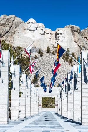 thomas stone: Mount Rushmore National Monument in South Dakota. Vertical image on a clear day.