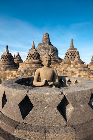 borobudur: Heritage Buddist temple Borobudur complex in Yogjakarta in Java, indonesia