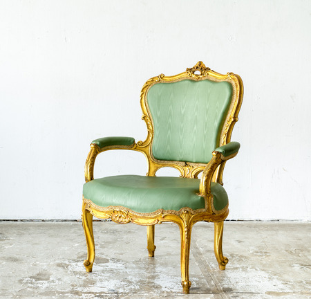 luxurious: Luxurious classical vintage armchair on white background