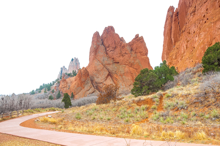 cheyenne: Beautiful red rock formations at Garden of the Gods is a public park located in Colorado Springs, Colorado, US. It was designated a National Natural Landmark