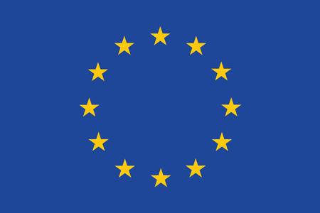 europa: Bandera de Europa. Ilustración del vector.