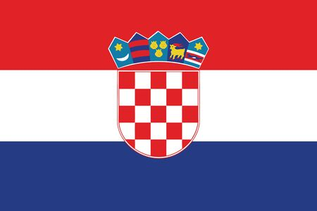 Flag of Croatia. Vector illustration.