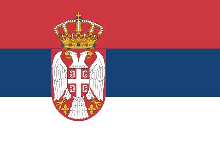 serbia: Flag of Serbia. Vector illustration.