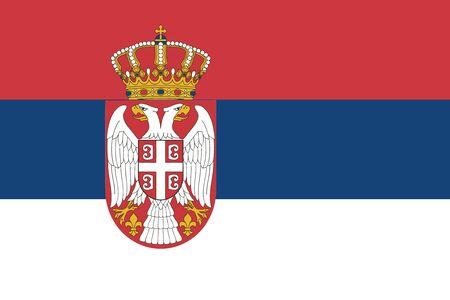 serbien: Flagge von Serbien. Vektor-Illustration. Illustration
