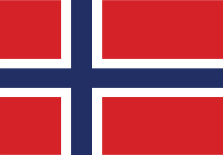 europe closeup: Flag of Norway. Vector illustration
