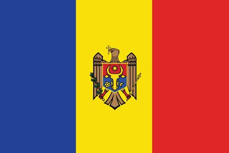 moldovan: Flag of Moldova. Vector illustration. Illustration