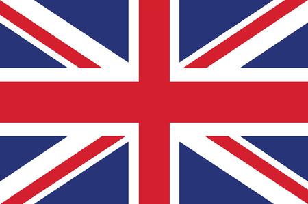Vlag van het Verenigd Koninkrijk. Vector illustratie.
