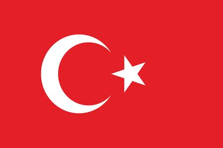 ethnical: Flag of Turkey. Vector illustration. Illustration