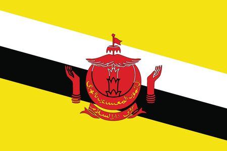 brunei darussalam: Flag of Brunei Darussalam. Vector illustration.