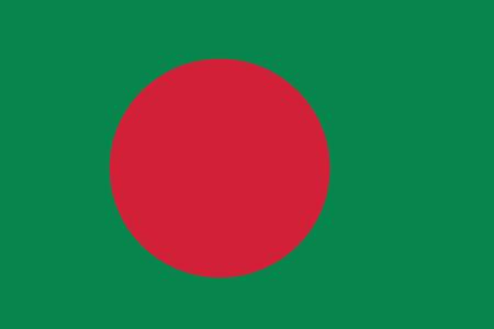 bangladesh: Flag of Bangladesh. Vector illustration.