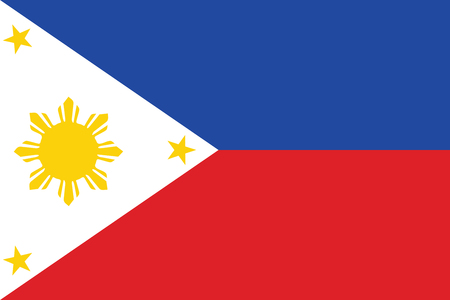 union flag: Flag of Philippines. Vector illustration.