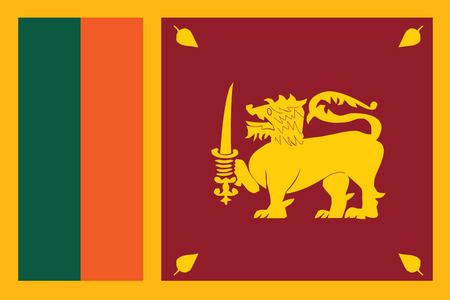 Flag of Sri Lankal. Vector illustration. Иллюстрация