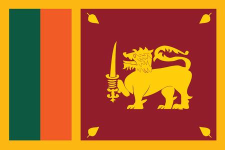 Vlag van Sri Lankal. Vector illustratie.