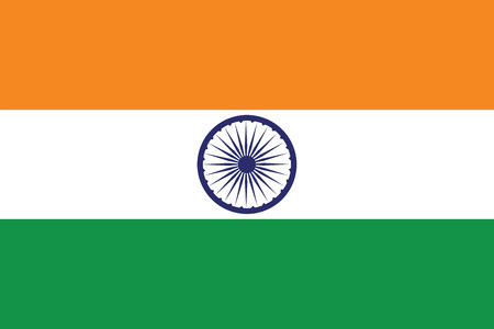 Flag of India. Vector illustration.