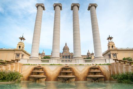 barsa: Placa De Espanya, the National Museum in Barcelona. Spain