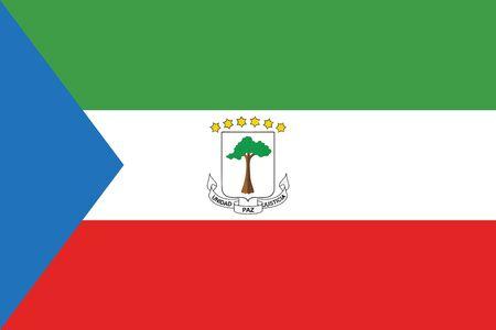 equatorial: Flag of Equatorial Guinea. Vector illustration.