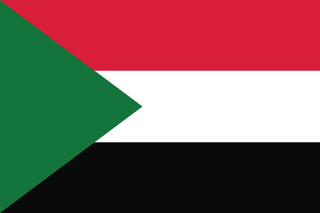 sudan: Flag of Sudan. Vector illustration. Illustration