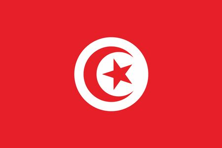 tunisia: Flag of Tunisia. Vector illustration. Illustration