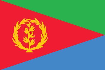 eritrea: Flag of Eritrea. Vector illustration. Illustration