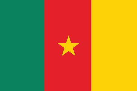 cameroon: Flag of Cameroon. Vector illustration.