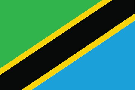 tanzania: Flag of Tanzania. Vector illustration.