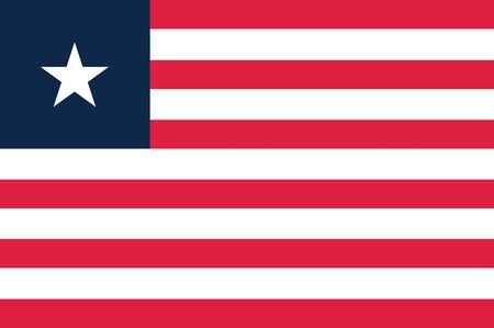 liberia: Flag of Liberia. Vector illustration.