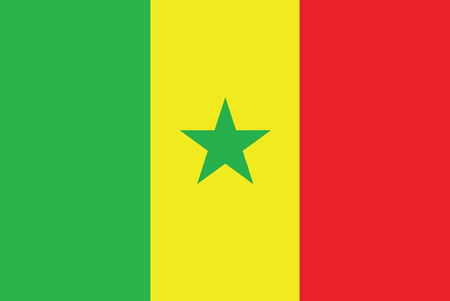 senegal: Flag of Senegal. Vector illustration.
