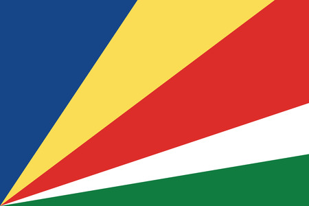 seychelles: Flag of Seychelles. Vector illustration.