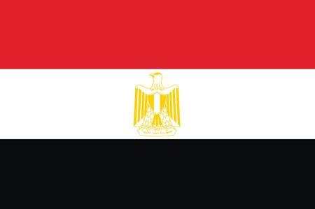 egypt: Flag of Egypt. Vector illustration.