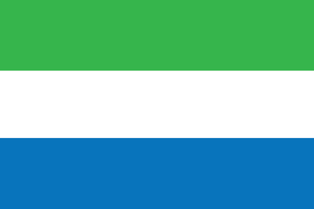 sierra: Flag of Sierra Leone. Vector illustration. Illustration