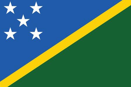 solomon: Flag of Solomon Islands. Vector illustration. Illustration