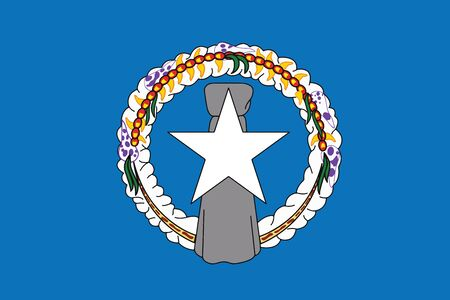 mariana: Flag of Northern Mariana Island. Vector illustration.